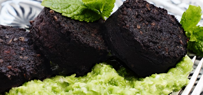 Black Pudding, Peas & Mint