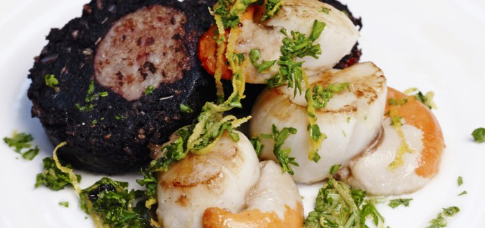 Pan-Fried Roulade & Scallops