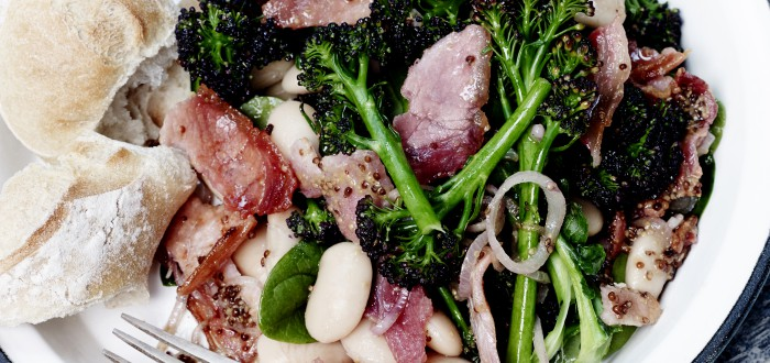 Rasher, Broccoli & Butterbean Salad
