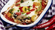 Roulade Baked Eggs & Spicy Tomato