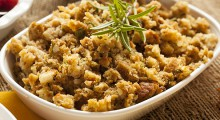 Homemade Thanksgiving Stuffing Made with Bread and Herbs; Shutterstock ID 157931915